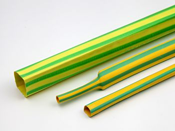 Thin wall heat shrink tube Green/Yellow 2:1