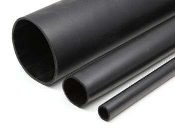 Heavy wall shrink tube with adhesive