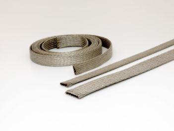 Flat tinned braid