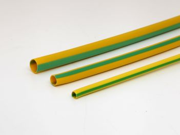 PVC sleeve green/yellow